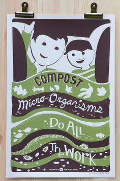 Victory Garden of Tomorrow - compost poster Screen Print Poster, Poster On, Wpa Posters, Girl Scout Badges, Girl Scouts, Handwritten Text, Girl Scout Activities, Girl Scout Juniors, Victory Garden