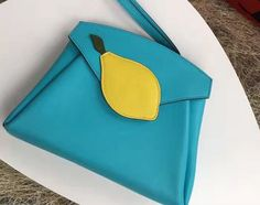 Hermes Tutti Frutti Hermail Clutch Bag turquoise