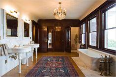 Beautiful Bathroom Designs With Victorian Style Bathroom - House Beautiful Bathroom Designs, Small Bathrooms Designs, Amazing Bathroom Designs, Handicap Bathrooms Designs, Beautiful Bathroom Pictures. Modern Bathroom Design, Bathroom Interior, Bathroom Ideas, Bathroom Pictures, Bath Design, Bathroom Designs, Modern Design, New York Times, Edwardian Bathroom