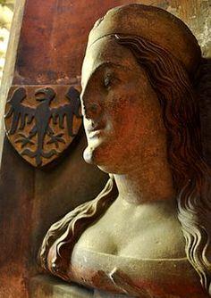 Busta Alzbeta Pomoranska - Category:Elizabeth of Pomerania - Wikimedia Commons Czech Republic, Royalty, Greek, Statue, Film, Painting, Wikimedia Commons, Braids, Hair
