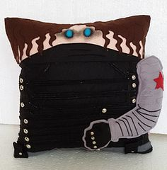 Handmade Bucky Barnes The Winter Soldier Plush Pillow #avengers #marvel #dccomics $34.95 http://www.rbitencourtusa.com/#!product/prd1/2762213181/handmade-bucky-barnes-the-winter-soldier-pillow