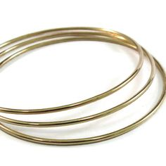 Gold Bangles - Gold Filled Smooth Round Just Plain Bangles - Individually    At long last...Everyone has been asking...so here they are!