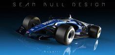 Sean Bull Design tastefully conceptualized a Bugatti F1 racer