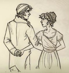 Decent Enought (Lizzie and Darcy) by ~emmilinne on deviantART It captures her face perfectly