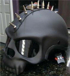 Spiked skull helmet