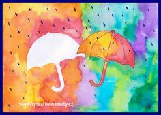 Deštník – teplé a studené barvy