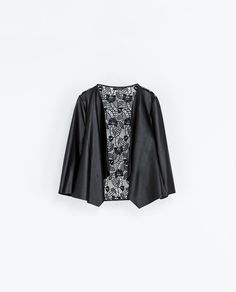 ZARA - WOMAN - FAUX LEATHER AND GUIPURE LACE JACKET