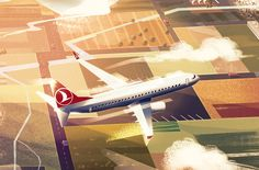 This illustrations were some Still Frames for Turkish Airlines. Hope you like it!