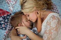 Photographers family session, outdoors at sunset by Kirstin Burrows Photography  A mothers love!