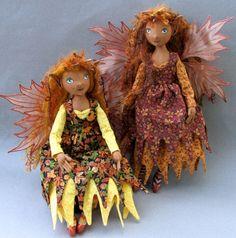 Fall fairies cloth dolls.