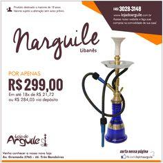 Narguilé Libanês POR APENAS R$ 299,00 Em até 18x de R$ 21,72 ou R$ 284,05 via depósito Compre Online: http://www.lojadoarguile.com.br/narguile-libanes
