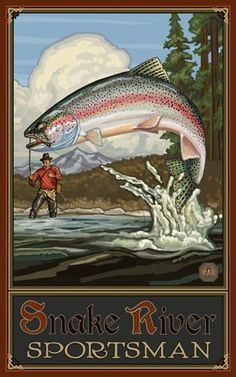 Rainbow Trout, Snake River Sportsman poster