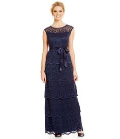 7064c1bffec Shop for Marina Scalloped Lace Tiered Gown at Dillards.com. Visit Dillards.com  to find clothing