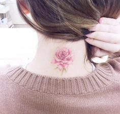 Beautiful Back Neck Tattoos For Women