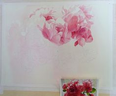 久しぶりの作品描き始めと、コンテスト入選のお知らせの画像:小林啓子水彩の部屋