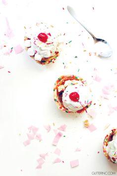 confetti cookie cup ice cream sundaes