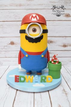Super Mario Minion - Cake by Deb Williams