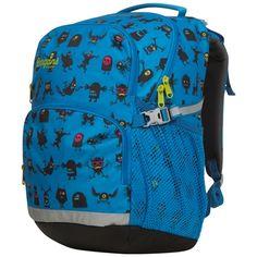 Bergans 1.klassesekk 2GO farge Lt Sea blue Monster. Innstillbar rygglengde! Barn, Backpacks, Sports, Kids, Sea, Fashion, Hs Sports, Young Children, Moda
