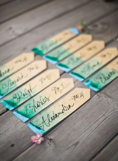 23 Creative Escort Card Displays - Inspired By This