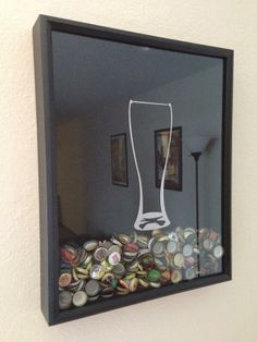 This is an awesome way to collect beer bottle caps!