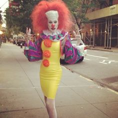 girly evil clown costume