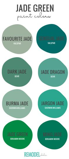 Jade Green: Find the perfect variation of this moody hue with our top paint colors. Paint the ceiling, paint the wall, paint the kitchen cabinets, or paint a piece of furniture. A dose of dramatic jade green will make a statement in any room. Top Paint Colors, Kitchen Paint Colors, Paint Colors For Living Room, Hgtv Paint Colors, Ceiling Paint Colors, Paint Walls, Bathroom Colors, Living Room Green, Bedroom Green