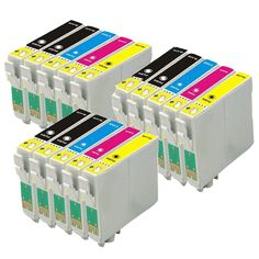 15PK T2001-T2004 Compatible T200XL Ink cartridges For EPSON XP-300 XP-400 WorkForce WF-2510 WF-2520 WF-2530 WF-2540 Printer