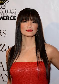 Kelly Hu attends the EXPERIENCE: East Meets West event hosted by the Beverly Hills chamber of commerce at Crustacean on February 5, 2014 in Beverly Hills, California. #KellyHu