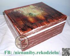 Almost 60 yo white & brown decoupage casket by NieNaNiby