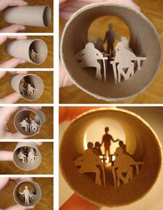 Toilet Paper Roll Tunnel Books