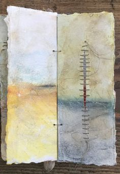 Landscape Drawing Book Recommendations Fresh A Book Of Landscapes Roxanne Evans Stout Handmade Journals, Handmade Books, Handmade Rugs, Handmade Crafts, Fabric Journals, Art Journals, Paper Book, Paper Art, Altered Book Art
