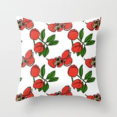 Ackee - from my Jamaican Botanicals Throw Cushion Cover collection