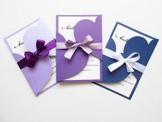 Szíves esküvői meghívó, vintage esküvői meghívó, lila esküvői meghívó Nap, Place Cards, Place Card Holders