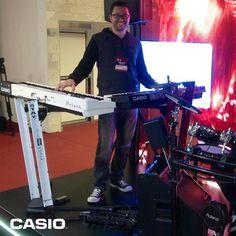 André Calore, endorsee da #Casio e tecladista do Double You também passou pelo estande da #Casio!   #DoubleYou #AndreCalore #CasioTecladosNaExpoMusic2013 #CasioTeclados #ExpoMusic2013