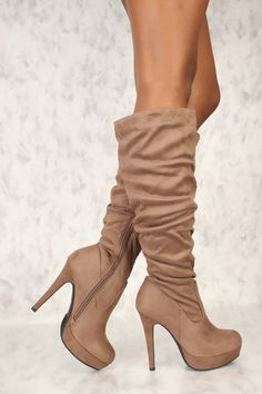 83d67ede981 Rock your look wherever you go in these stylish boots! Featuring  faux  suede