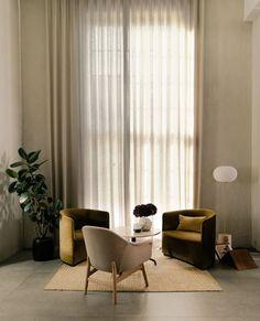 JWDA Floor Lamp – mooielight Sofa Seats, Sofa Chair, Interior Styling, Interior Design, Sofa Dimension, Lounge Design, Unique Home Decor, Decoration, Minimalist Design