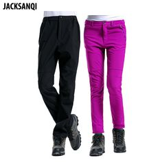 JACKSANQI Winter Men's Women's Outdoor Sports Fleece Pants Waterproof Trekking Climbing Outdoor Thermal Softshell Trousers RA036 Review Hiking Pants, Fleece Pants, Outdoor Woman, Softshell, Men And Women, Trekking, Climbing, Parachute Pants, Trousers