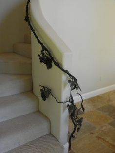Wrought Iron, one of a kind handrail for curving staircase