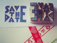 Bazooka Crafts: Handmade Save The Date Stamp