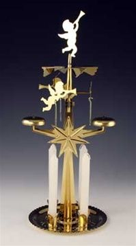 Candle powered Angel chime carousel