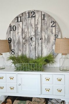Come see how to make a super easy DIY wood pallet clock. It's easier & cheaper than you would think!.