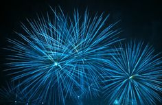 Blue fire works