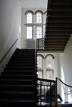 At the Royal Tropical Institute. Beautiful staircase.