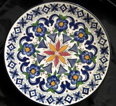 Made in Spain Moroccan Decorative Plate 70's by Debrasgoods