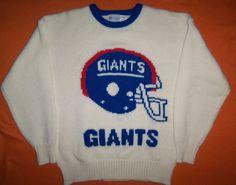Vintage Men's Cliff Engle New York Giants Helmet SZ XL NFL Shirt Jersey Football #CliffEngle #PulloverSweater #NewYorkGiants