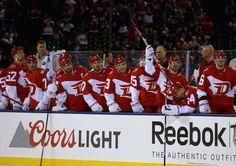 Detroit Red Wings beat Avs 5-3 in 2016 Stadium Series Game 2/27/16 in Colorado.