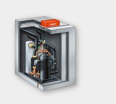 Der leistungsstarke Compliant Scroll-Verdichter der Wärmepumpe Vitocal 300-G überzeugt durch hohe Betriebssicherheit, Zuverlässigkeit und besonders leisen Betrieb. Wesentlich dafür verantwortlich ist die doppelte Schalldämpfung mit einer Schwingungsdämpfung gegen Körperschall und einer Gehäusedämpfung gegen Luftschall. Gleichzeitig garantiert der Verdichter höchste Arbeitszahlen (COP bis 4,9) und Vorlauftemperaturen bis 60 °C.