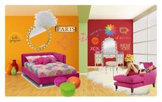 """""""Teen Room"""" by mariea23 ❤ liked on Polyvore featuring interior, interiors, interior design, home, home decor, interior decorating, Fornasetti, UGG Australia, Dot & Bo and Home Decorators Collection"""
