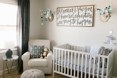Caleb's Rustic Neutral Nursery Reveal With White, Gray, and Wood Accents Whole Room