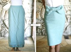 Welcome to the gOOd life: vintage bowtie skirt DIY